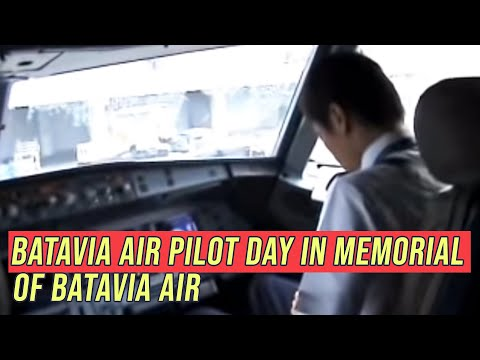 "Batavia Air Pilot Day ""IN MEMORIAL OF BATAVIA AIR"" - Cockpit Video"