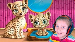 Детская игра Салон для детенышей животных Видео для детей вместе с Дашей