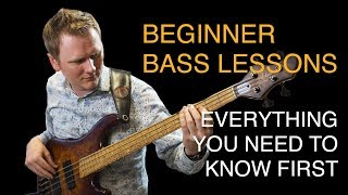 Learn Bass Lesson 01 - Introduction to the bass guitar