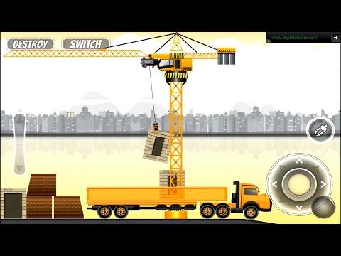 เครน รถพ่วง ยกของ เกมส์สำหรับเด็ก Loader trailer truck games for kids