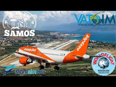 FSlabs A320 Palermo to Samos during WorldFlight 2017