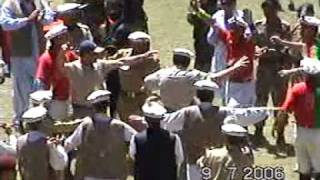 Ex President of Pakistan Pervez Musharaf Dancing with Chitral Polo Team