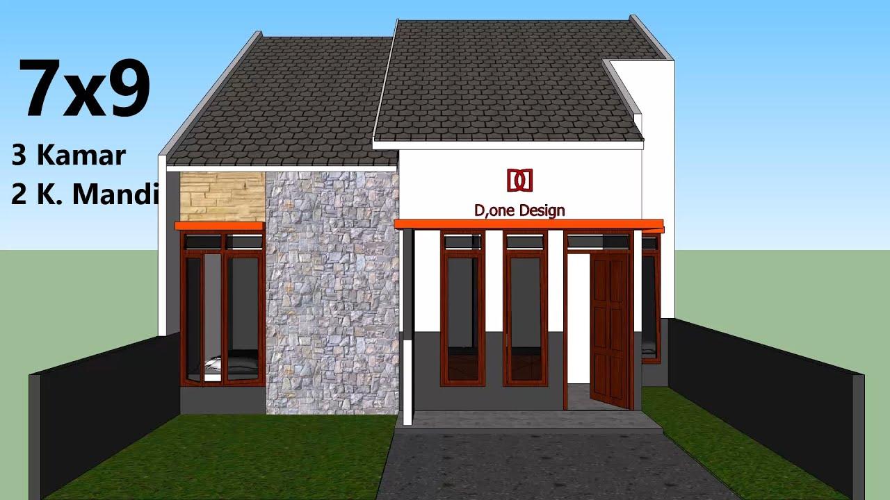 Rumah Minimalis - 7x9 Meter - 3 Kamar Tidur - YouTube