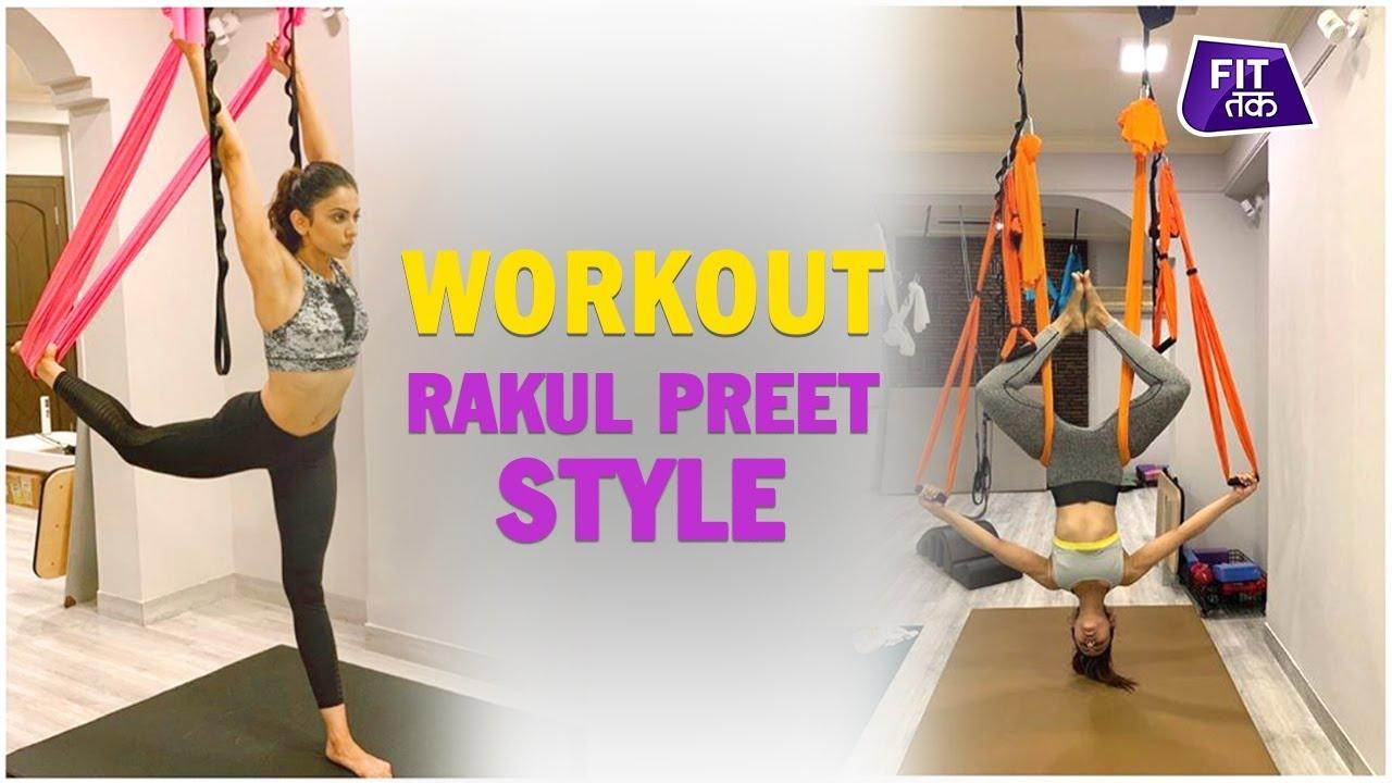 Download Rakul Preet Singh Nails Aerial Yoga | Fit Tak