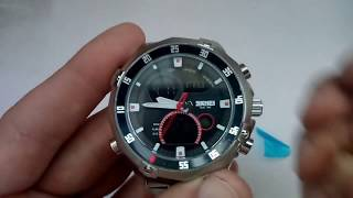 Кварцевые часы Skmei 1146 silver обзор, настройка, инструкция на русском, отзывы