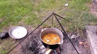 Как правильно приготовить вкусный плов в казане на костре