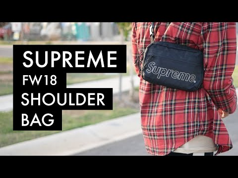 SUPREME FW18 Shoulder Bag | On-Body - YouTube