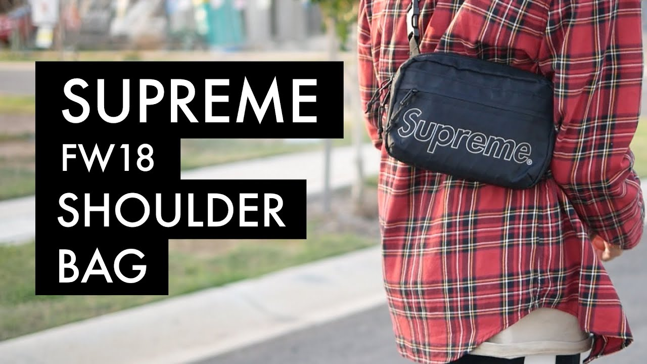 SUPREME FW18 Shoulder Bag | On-Body - YouTube