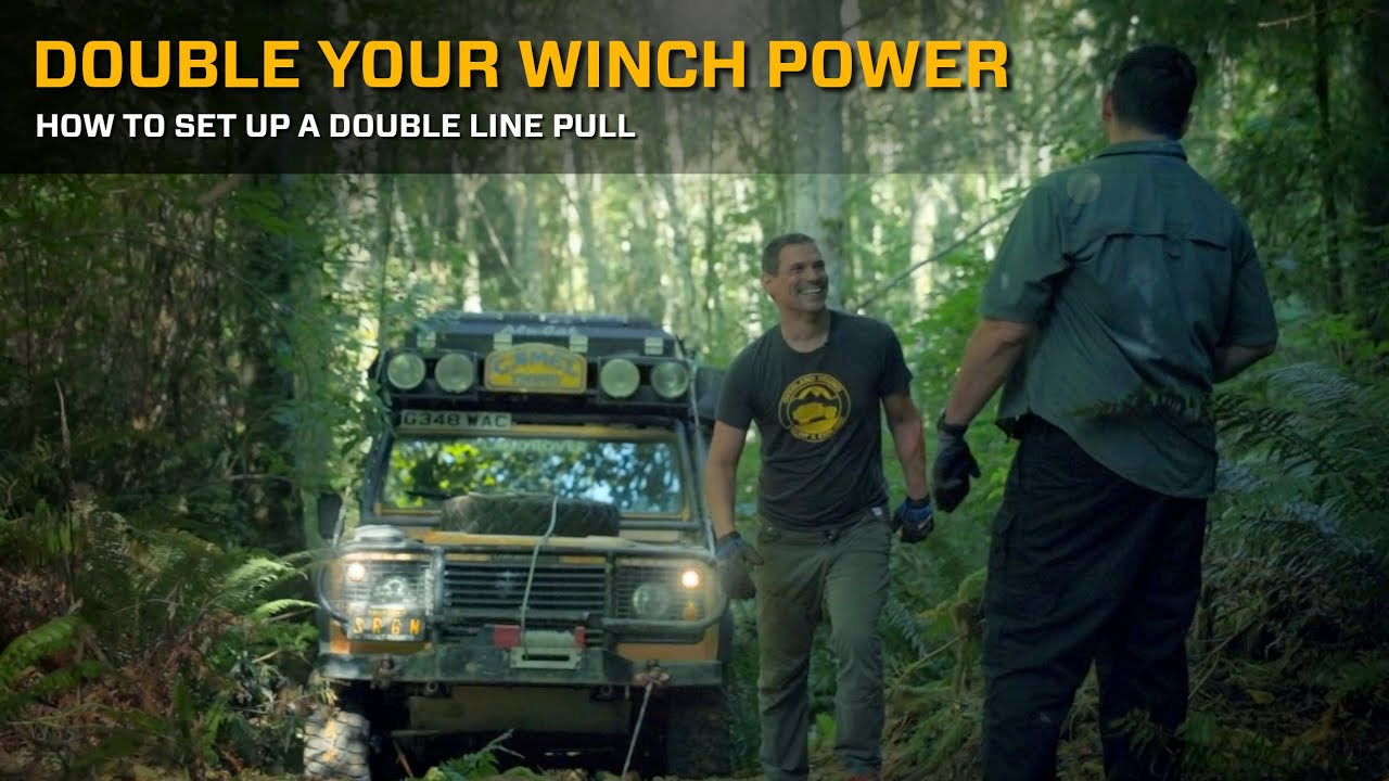 Double Your Winch Pull Power : How to Set Up a Double Line Pull