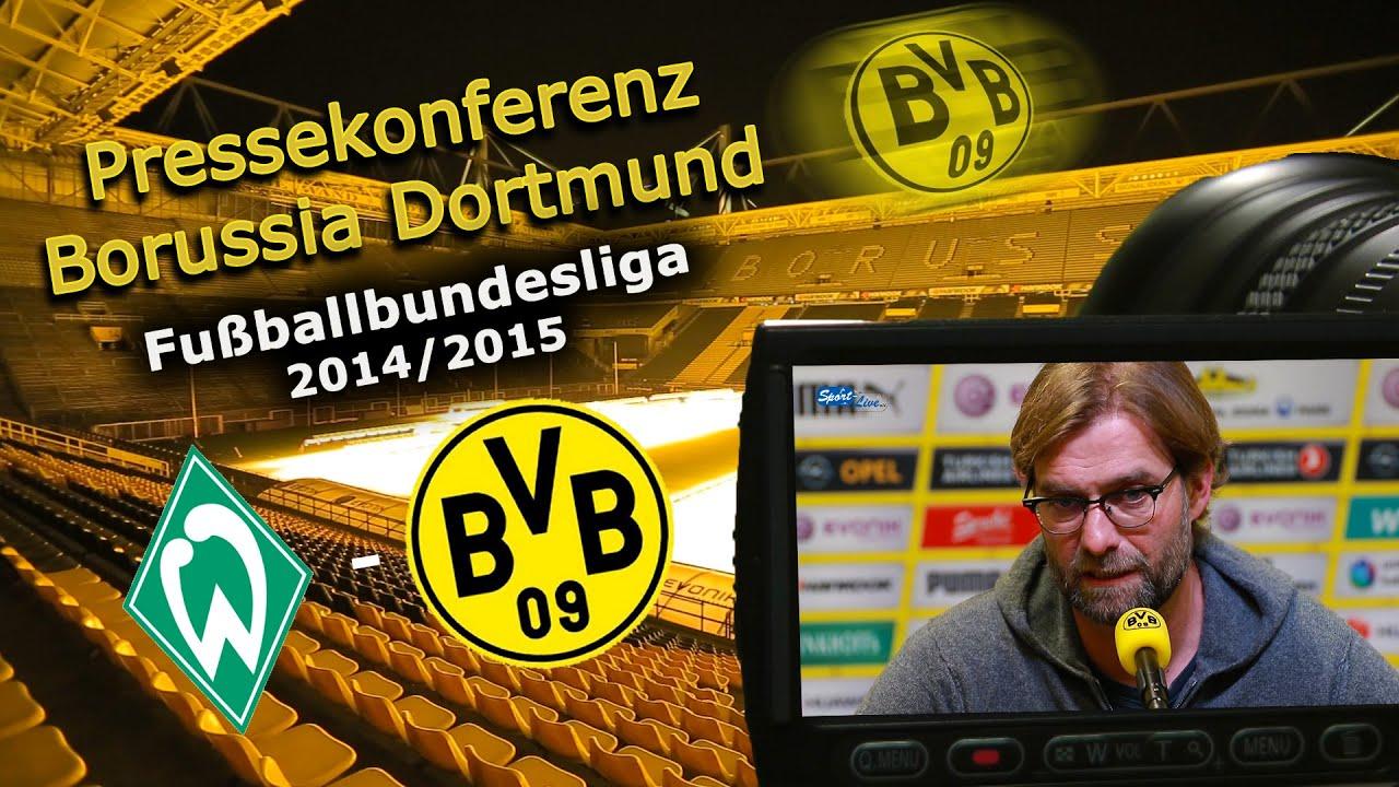 SV Werder Bremen - Borussia Dortmund: Bundesliga-Pk mit Jürgen Klopp