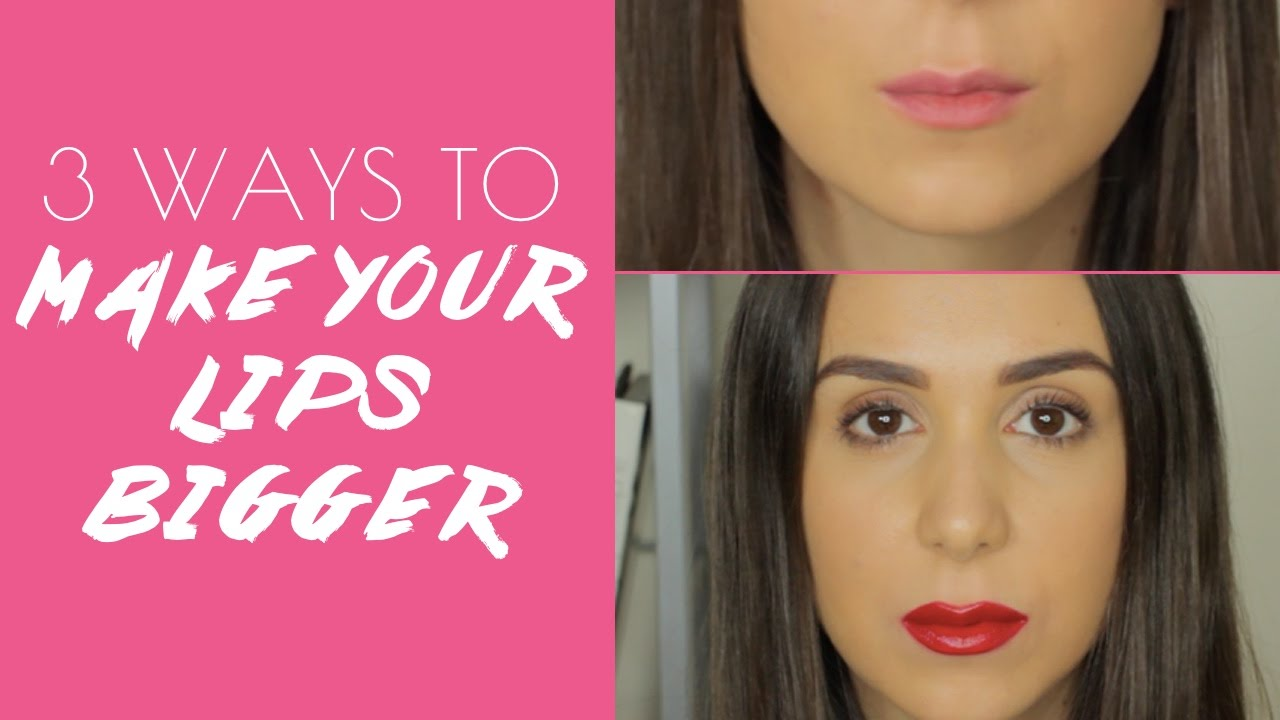 How to make your lips bigger with makeup and a DIY scrub