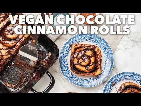 VEGAN CHOCOLATE CINNAMON ROLLS | Easy Vegan Recipe for Mother's Day