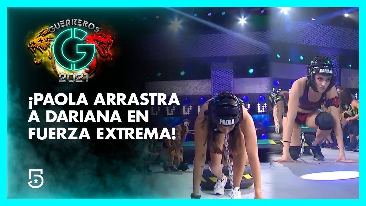 ¡Paola arrastra a Dariana en 'Fuerza extrema'! | #Guerreros2021 | Canal 5