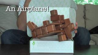 Magnetic Wooden Toys From Tegu - Building An Airplane