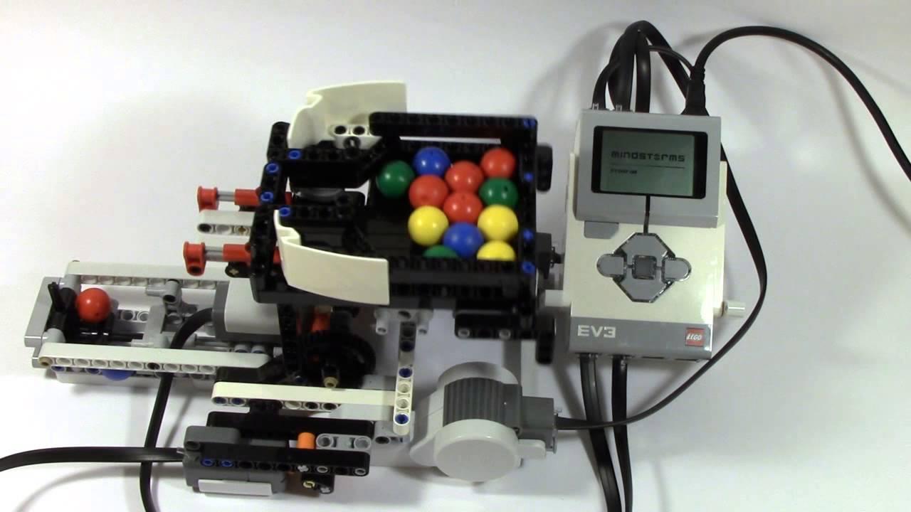 Mindstorms EV3 Ball Color Sorter Part 1 - YouTube