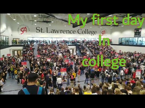 My First Day In Canada As A Student.    St. Lawrence College (kingston),Orientation Day.  -Mallu Boy