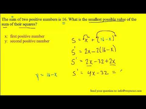 The sum of two positive numbers is 16. What is the smallest possible value of the sum of their squar