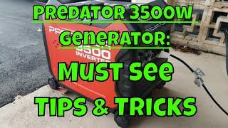 Harbor Freight 3500 Watt Inverter Generator - MUST SEE Tips & Tricks