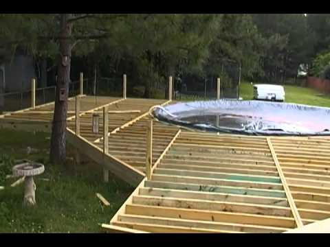 Above ground pool deck 2 youtube - How to build an above ground swimming pool ...
