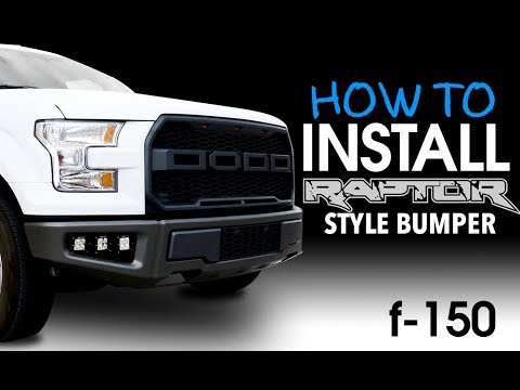 How to install Ford F150 2015-2017 Raptor Style Bumper Upgrade - YouTube