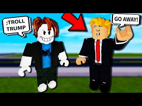 Trolling DONALD TRUMP in ROBLOX with ADMIN COMMANDS!