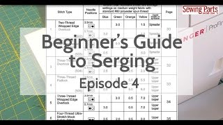 Beginner's Guide to Serging (Ep 4): Overlock Stitch + Intro to Tension