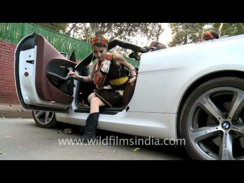 Tetseo Sisters in BMW 650i cabriolet in Delhi...