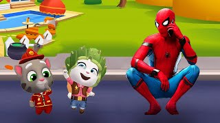 WHO IS BETTER? SPIDER-MAN VS MY TALKING ANGELA VS MY TALKING TOM FIREMAN ?