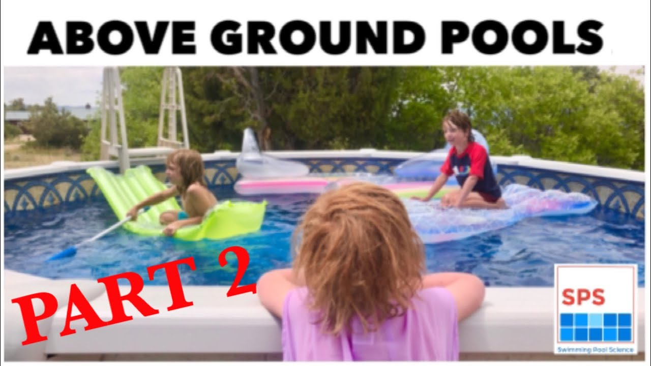 How To Assemble An Above Ground Pool Part 2: We're Going Swimming!