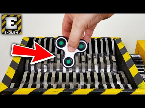 SHREDDING FIDGET SPINNER - EXPERIMENT AT HOME