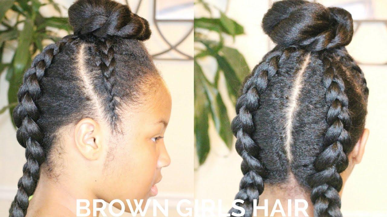 Little Black Girls Cornrows Hairstyle Natural Hair Youtube