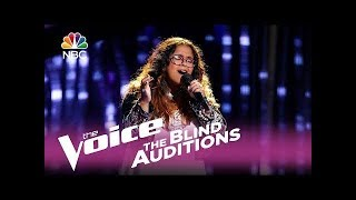 "The Voice 2017 Blind Audition - Brooke Simpson: ""Stone Cold"" - Shock  Reaction"