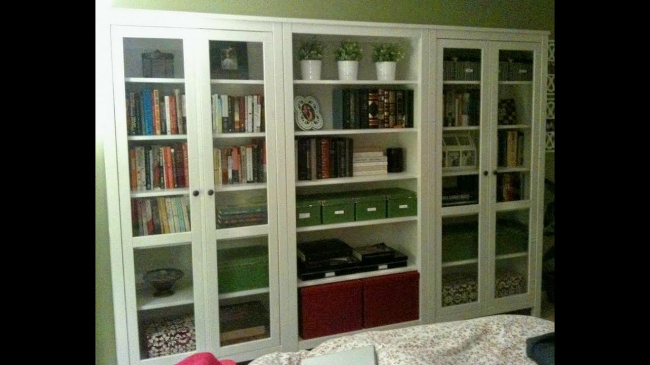 Bookshelves With Glass Doors Youtube