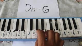 INDONESIA RAYA    Pianika dengan Nada Dasar Do=G