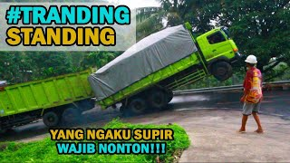 Suddenly Viral !! Two Meter Jumping Coal Dump Truck on an incline to the Crying Bay of Sirih