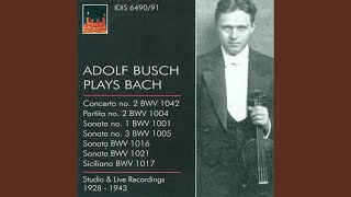 Violin Sonata No. 1 in G Minor, BWV 1001: II. Fugue