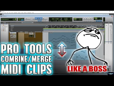 Pro Tools | Combine/Merge MIDI Clips LIKE A BOSS! 🎵🔥