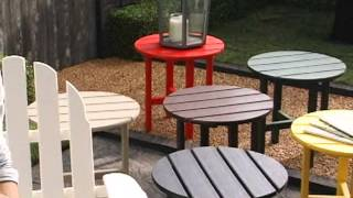 Polywood® Recycled Plastic Classic Adirondack Chair & Ottoman 2pc Set - Product Review Video