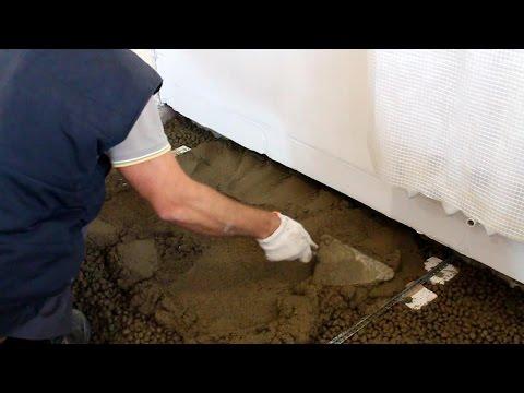 видео: Водяной теплый пол своими руками. Часть 1. Черновой пол из керамзита