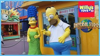 Universal Studios Hollywood Tour - THE SIMPSONS Transformers WALKING DEAD Waterworld - Willy