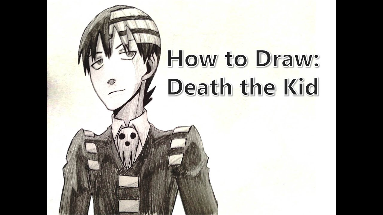 How To Draw Death The Kid Soul Eater Youtube