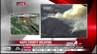 Napa County Fire Sends Smoke Billowing Over North Bay