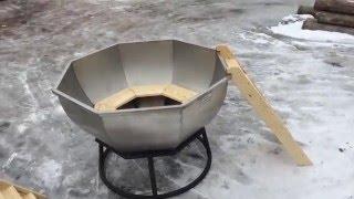 Обзор банного чана на дровах