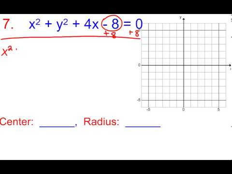 8 3b find the center and radius of the circle with given equation 8 3b find the center and radius of the circle with given equation then graph ccuart Image collections