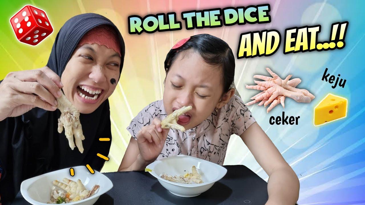Roll the Dice and Eat ♥ Tantangan Makan Makanan Yang Tidak Disuka   Aqilla's Diary