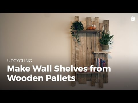 Build DIY Wooden Wall Shelves | Upcycling