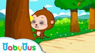 Monkey Alan Goes to Bed late and Hits the tree | Sleeping Good Habits for Kids | BabyBus