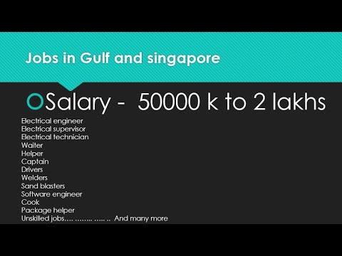 Jobs in Gulf and singapore- engineers, labours, cook, helper, technician, supervisor. 1000 vacancies