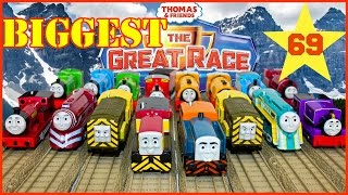 NEW BIGGEST THOMAS AND FRIENDS THE GREAT RACE #69 TrackMaster Thomas The Tank Toy Trains