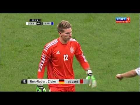 Пенальти Месси в матче 'Германия - Аргентина' 0:0
